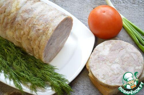 Зельц - кулинарный рецепт