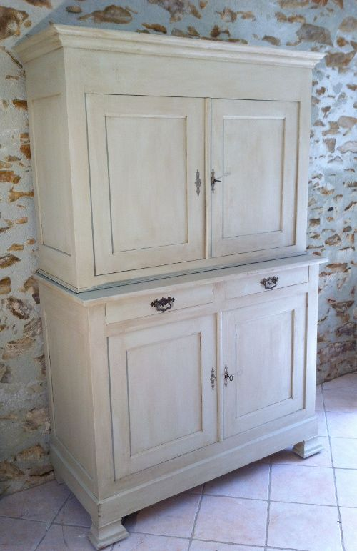 French style old louis phillippe buffet dresser deux for Entreposage de meuble