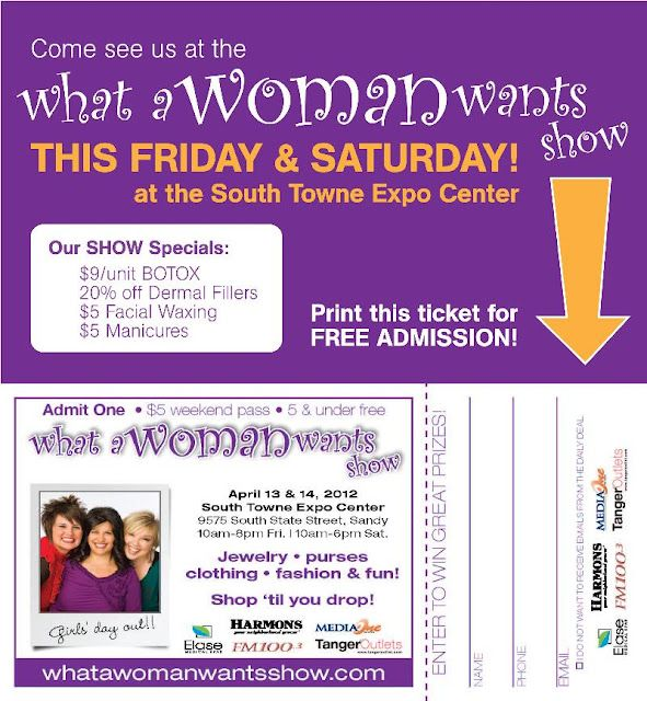 Free ticket to What Women Want Expo (Utah) this weekend - April 13 &14, 2012 Internet Site,  Website, Web Site