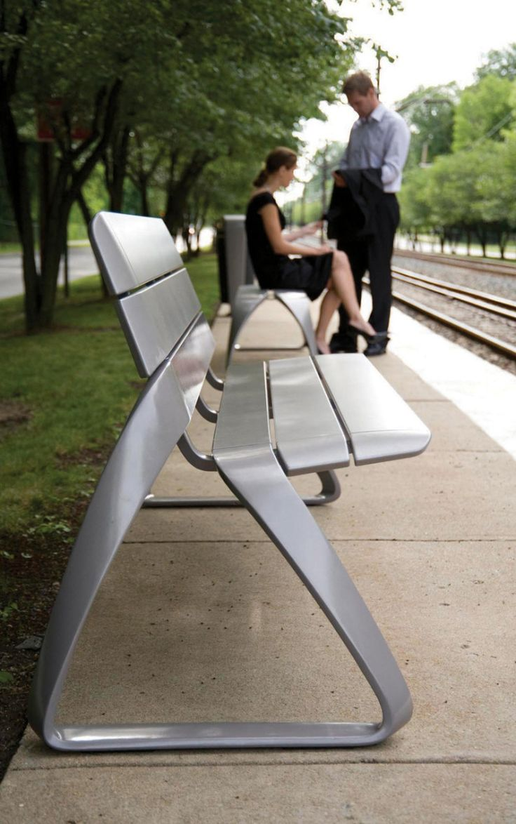 """BMW Designworks created a 7-piece selection of furniture for public transport spaces called """"metro 40."""" The seven pieces are broken down into categories: connect, rest, ride, collect, h…"""