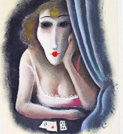 Richard Zieglers(1891-1992) - Fortune Teller (Die Kartenlegerin), N/D