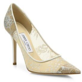 Jimmy Choo Abel Lace Point-Toe Pumps at Saks Fifth Avenue #affiliatelink