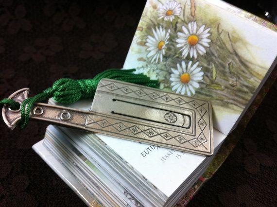 Sterling silver hachette bookmark handmade by ArchipelagosBreeze, €28.00