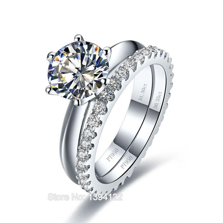 Solitaire Diamond Wedding Ring Sets