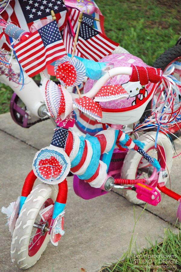 4th of july bike and scooter decorating a collection of for Bike decorating ideas