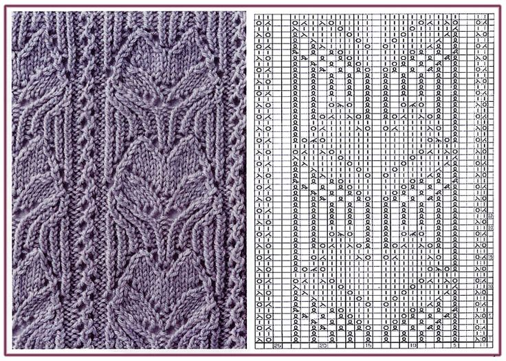 Gallery.ru / 83 - Образцы и схемы узоров спицами (часть 1 - восточные) - HelenaKovgan