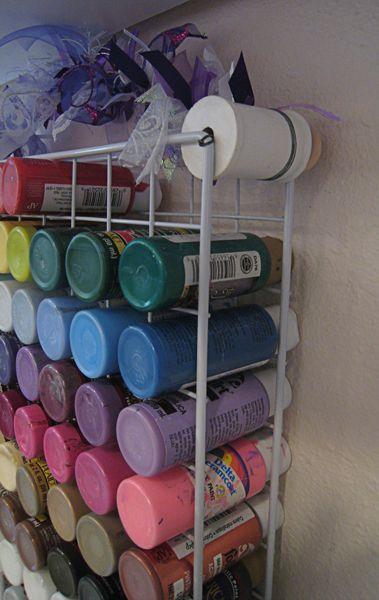 www.craftytam.com | Craft room12: Acrylic paint storage 2