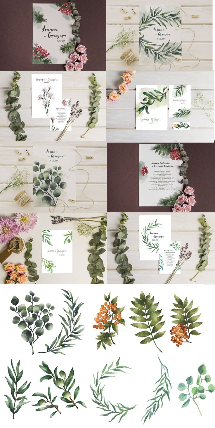 wedding design, watercolors