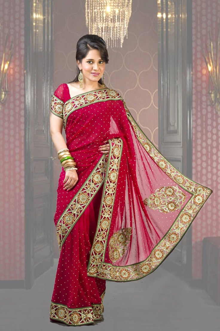 Best exclusive net stone saree collection images