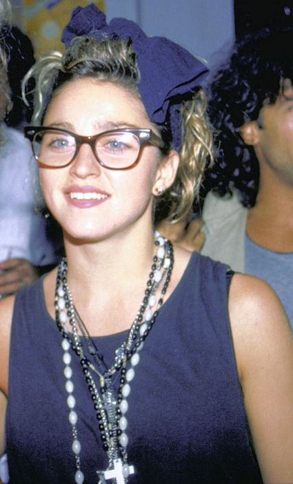 Look at little Madonna in 1984 at David Lee Roth's birthday party.