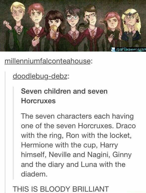 Seven children with seven horcruxes!