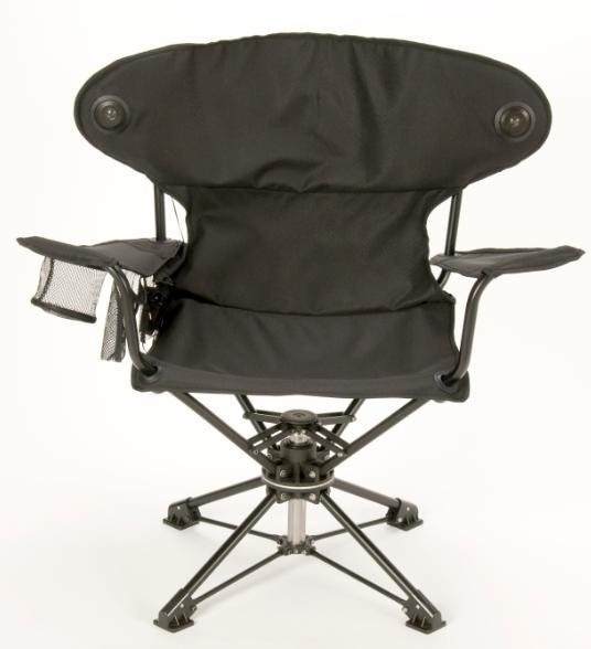 Revolve updates the camping chair with 360-degree swivel and iPod dock
