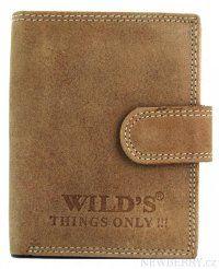 Pánská kožená peněženka WILD světle hnědá W01