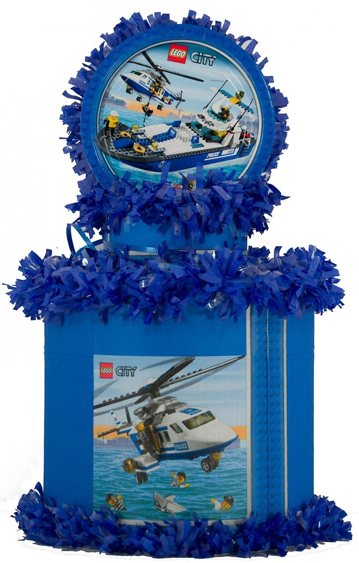World of Pinatas - Lego City Pinata, $27.99 (http://www.worldofpinatas.com/lego-city-pinata/)