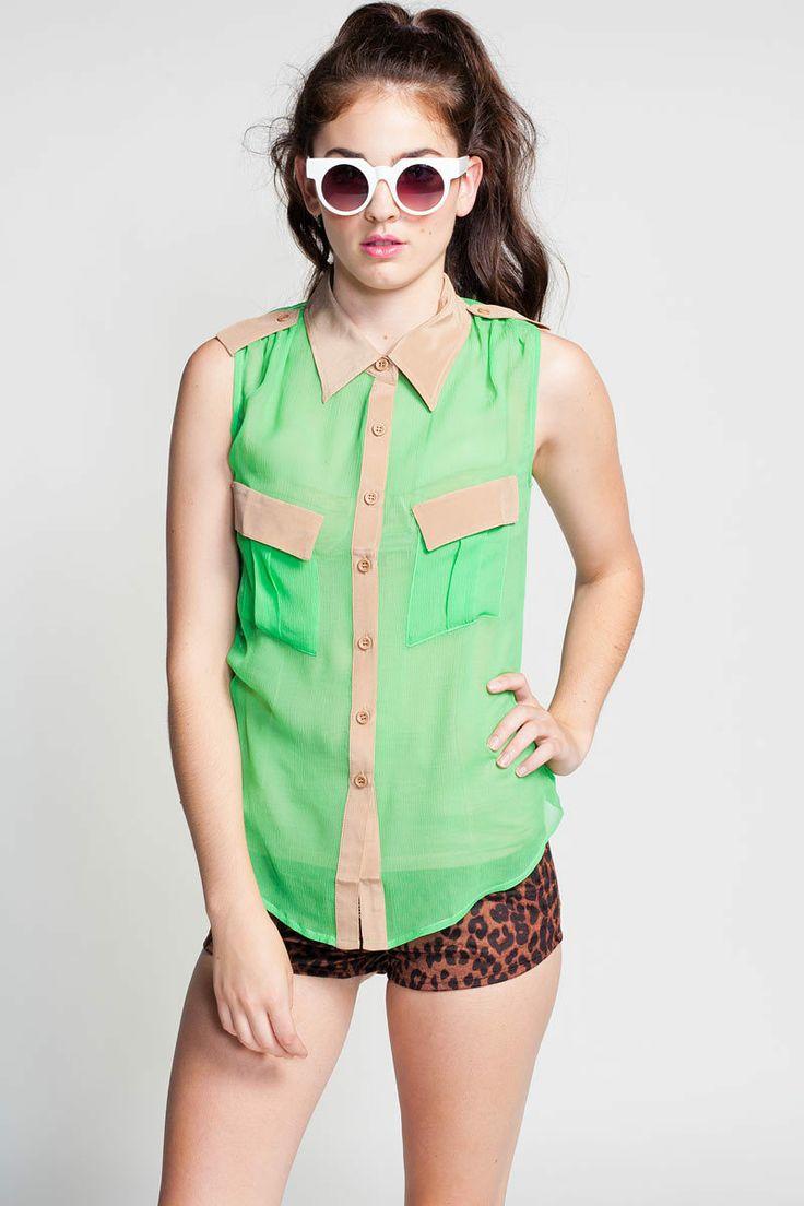 Koshka - S.Y.L.K 'Elisa' Sleeveless, €32,96 (http://www.shopkoshka.com/tops/blouses/s-y-l-k-elisa-sleeveless/)
