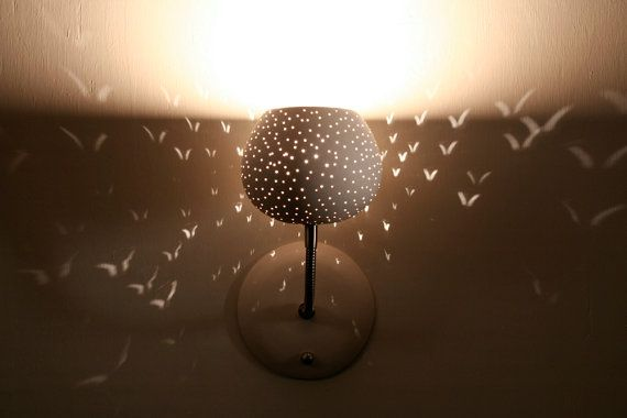 Wall Lamp with Touch Dimmer: Claylight Sconce, Dot Pattern ON  | 2…