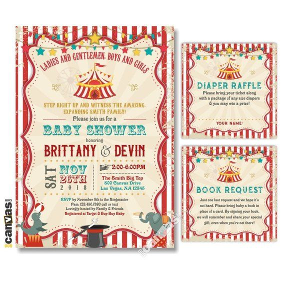 Circus Baby Shower Invitation Carnival Baby Shower Etsy Circus Baby Shower Invitations Baby Shower Invites For Girl Carnival Baby Showers