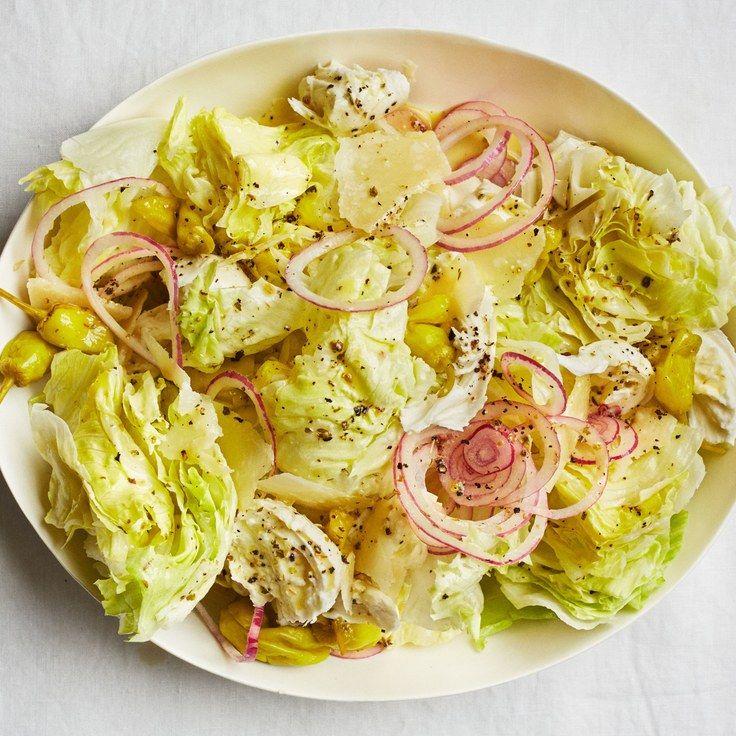 Iceberg Salad with Italian Dressing