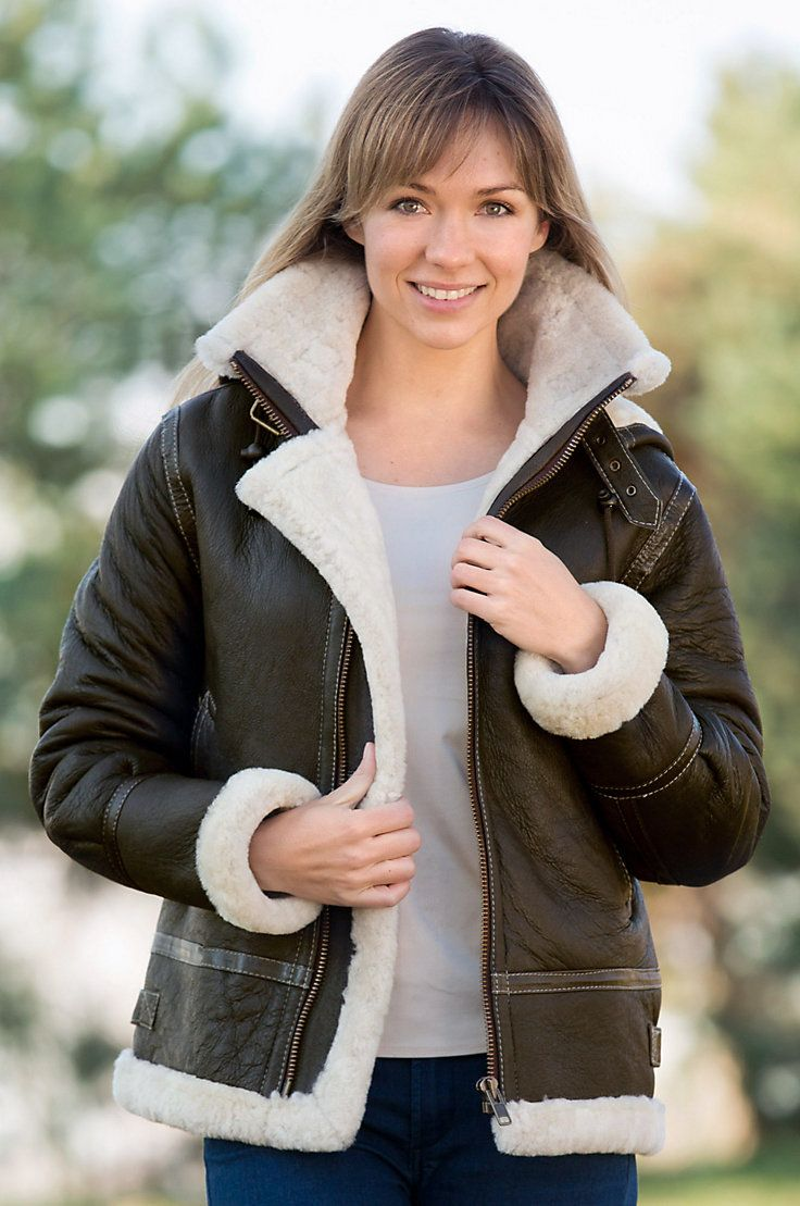 Womens Sheepskin Bomber Jacket | Outdoor Jacket