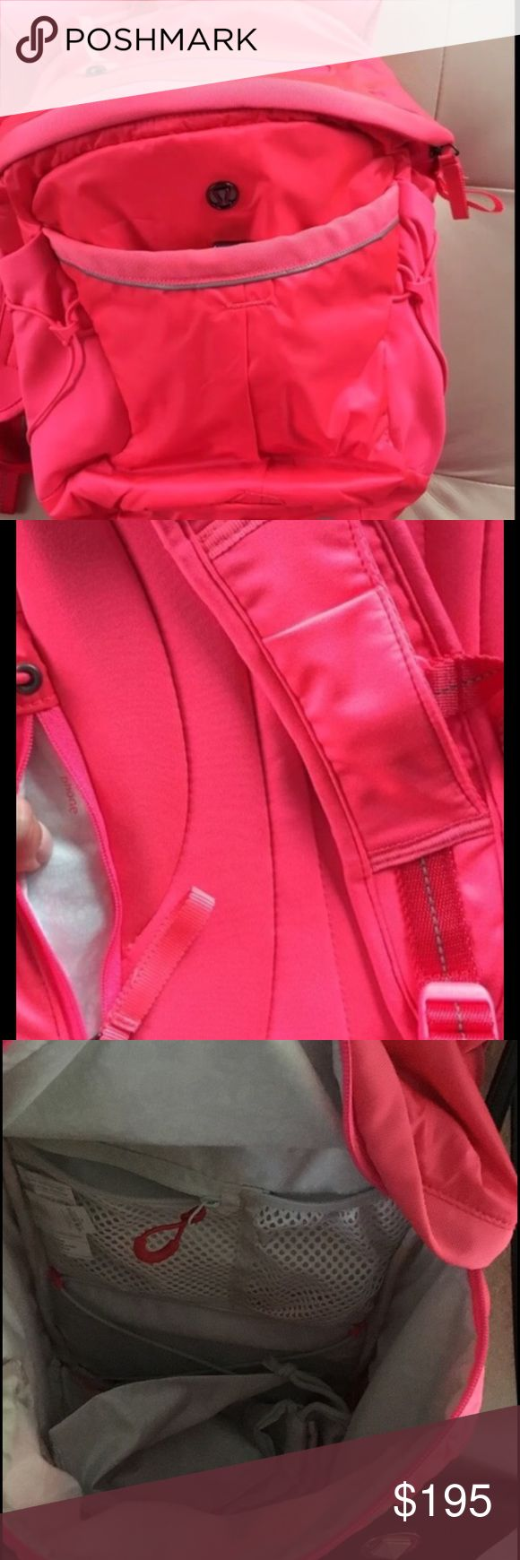 Hot pink lululemon backpack Flawless neon pink backpack. Never used . No trades thank you lululemon athletica Bags Backpacks
