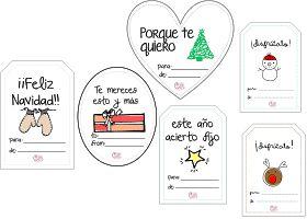 Diseña tus propias etiquetas + etiquetas navideñas para descargar gratis