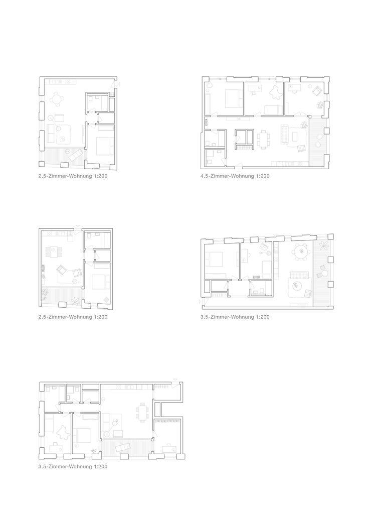 a f a s i a: Morger Dettli Architekten #plan #appartementen #ruimteschakeling