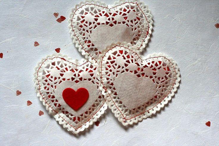 Doily Candy Hearts DIY