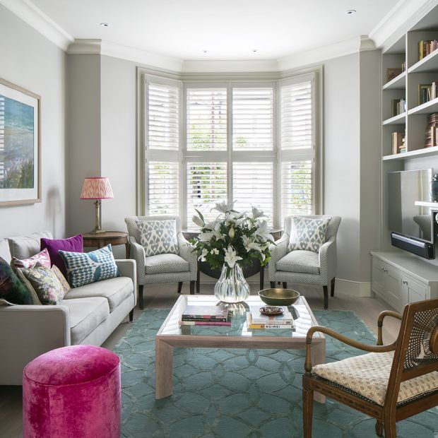 Step Inside This Edwardian Terraced House That Has Created Fabulous Flow And Maximised Light Bay Window Living Room Livingroom Layout Victorian Living Room