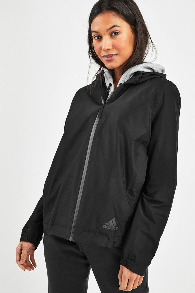 Womens adidas Climaproof Rain Jacket - Black | Products in ...