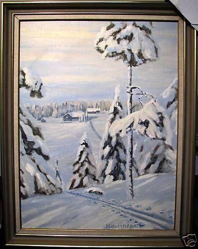 Mark Vihermaa original oil painting  Winter Landscape  Australian Painting