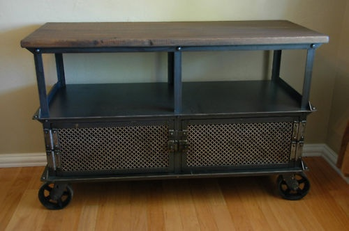 French Industrial Ellis Media Console Vintage TV Stand | eBay