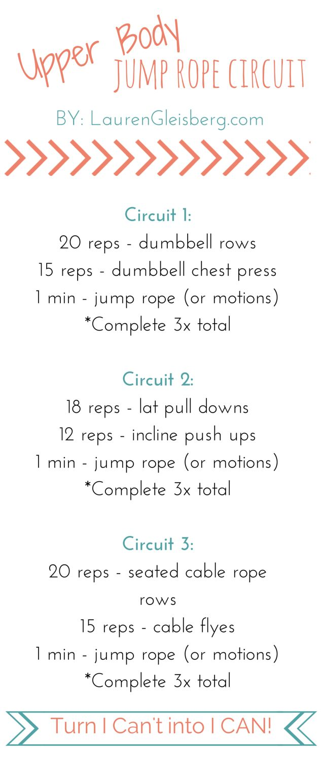 Upper Body Jump Rope Circuit - 9/10