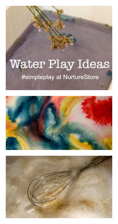 Fantastic ideas for all sorts of water play activities - great sensory play