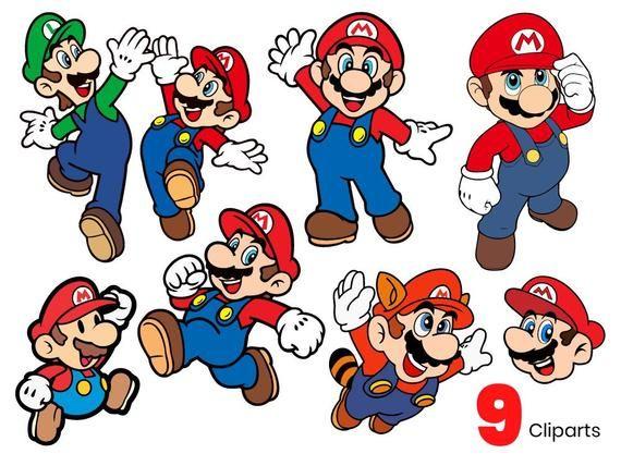 9 Super Mario Svg Vector Clipart Cutfiles Mario Bros Svg Files In Png Eps And Ai Mario Bros Mario Super Mario