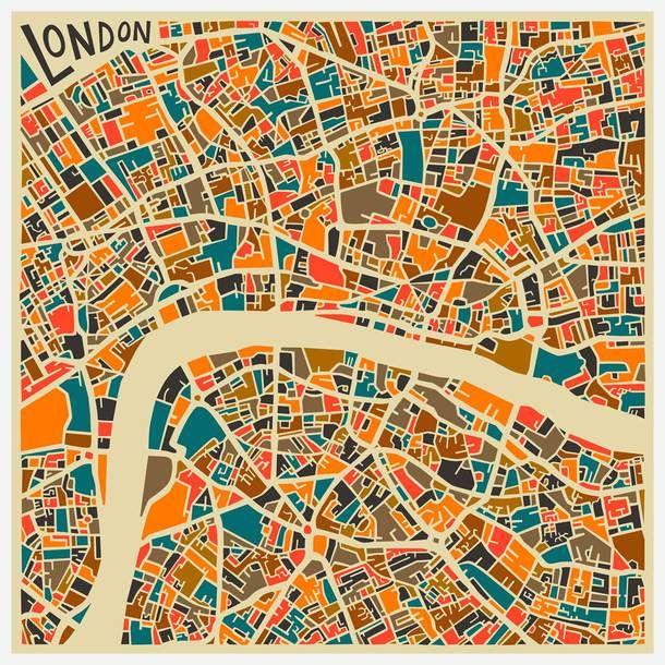 London | Jazzberry Blue Maps