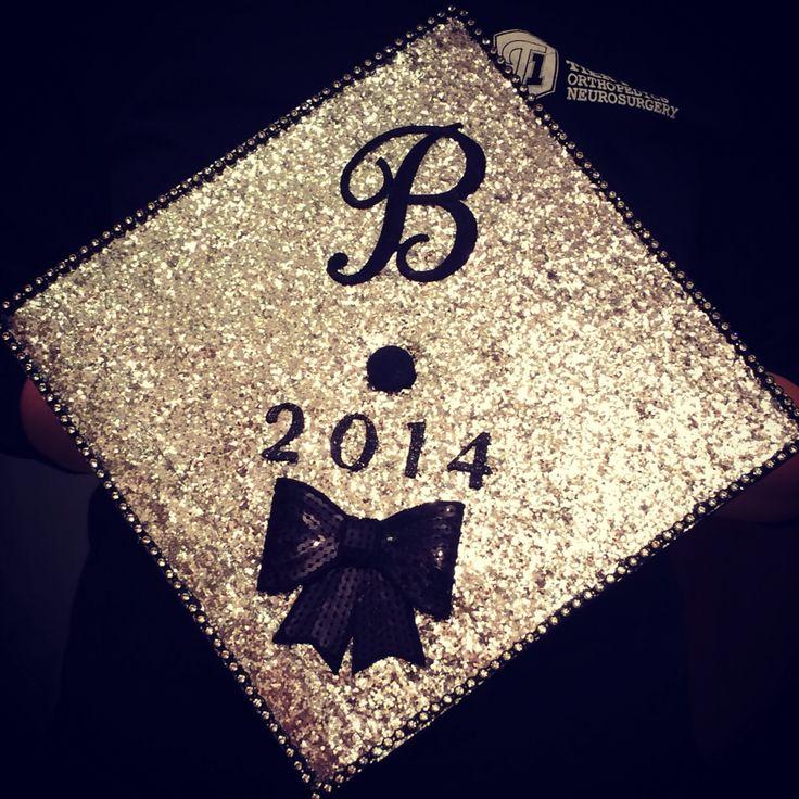 Graduation cap #sparkly #graduationcap #graduation #diy