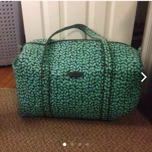 Vera Bradley large duffel shower vines Vera Bradley large duffel shower vines. Used once I recently got a new weekender in the same print so I no longer need this one. Cheaper on Ⓜ️ercari.        WILLING TO TRADE FOR A DOGWOOD WEEKENDER !  Vera Bradley Bags Travel Bags
