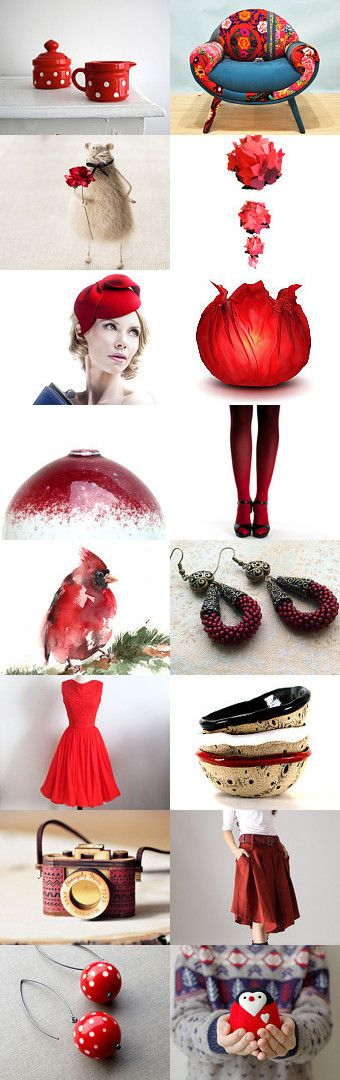 Red January gift guide by Csilla Molnar on Etsy--Pinned with TreasuryPin.com