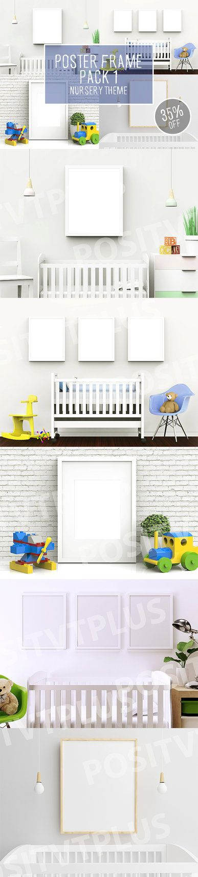Poster Frame Pack 1  Nursery Theme / frame mockup / by Positvtplus                                                                                                                                                      More
