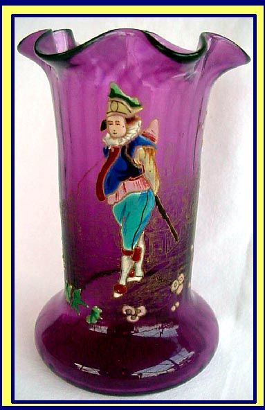 БОГЕМИАН Rössler стеклоэмали ваза ш Арлекин Продажа   Antiques.com   Объявления