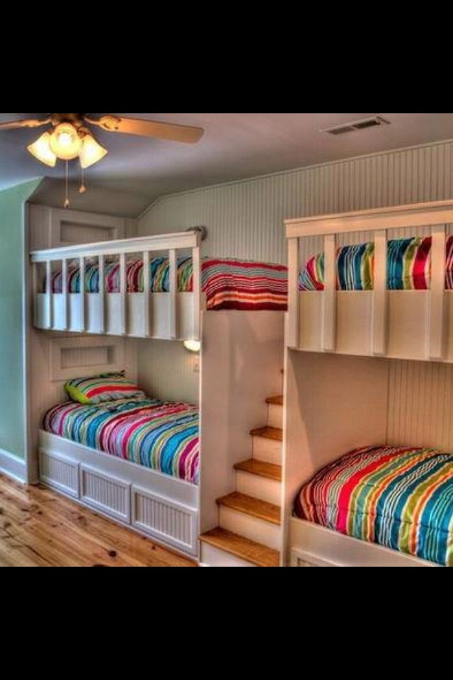 creative quad bunk bed my dream home pinterest