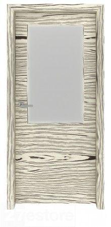 Safari White Interior Glass Door Charlotte   #safari #interior #doors