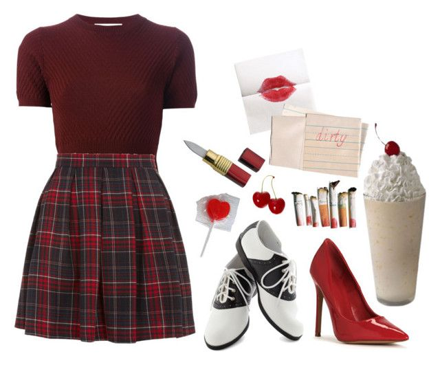 """""""audrey horne"""" by yousickbastard ❤ liked on Polyvore featuring Hahn, Marni and Pinup Couture"""