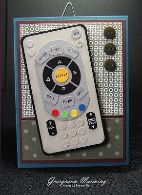 Here's a great homemade card for the person who controls the remote in the house! Check it out on Stampin' Everything!