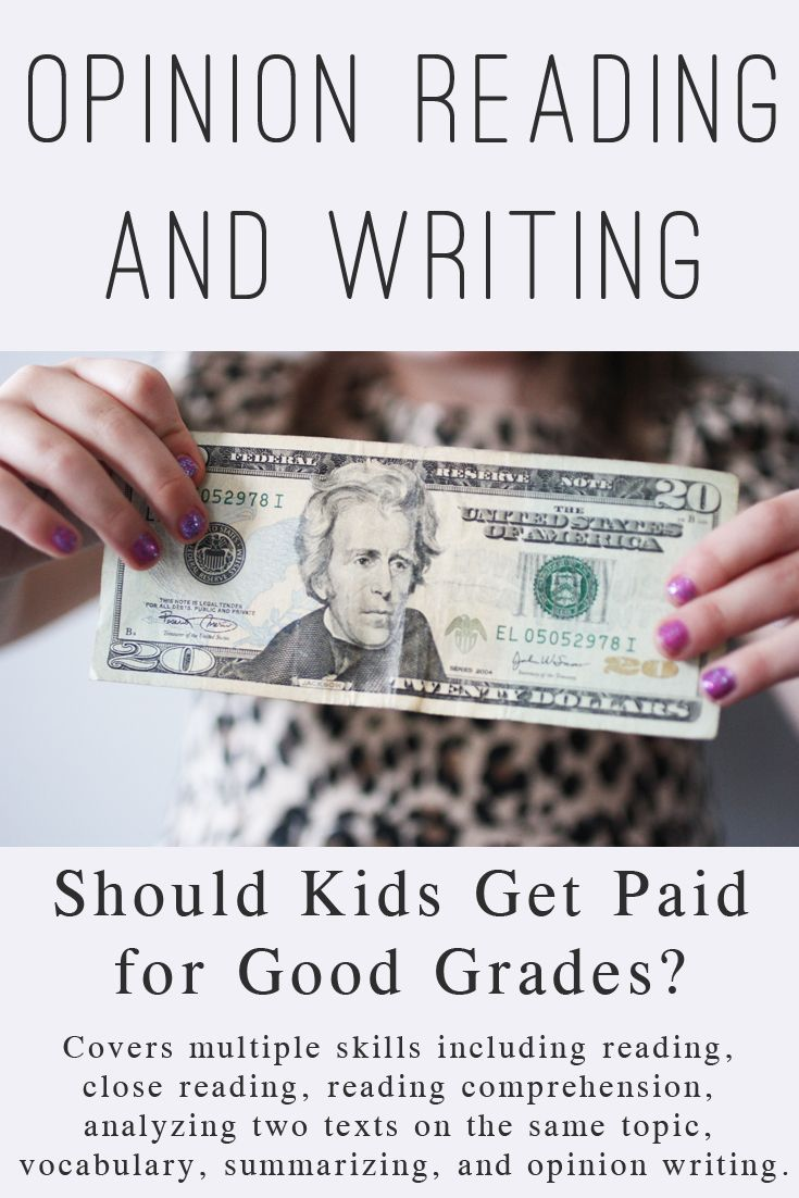 kids should get paid Why parents should stop paying kids to get good grades in  paying your kids to do what they should be doing anyway — working hard in school and paying.
