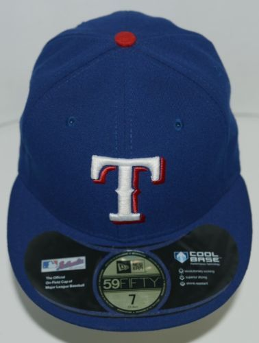 newest cfcd5 a5bd4 New Era CA40289 Texas Rangers Authentic On Field MLB Fitted Cap Blue Size 7  (eBay Link)