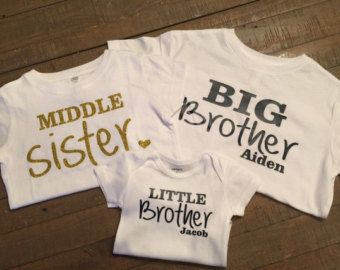 Personalized set of 3 sibling shirts Mix and by TugboatsAndTutus