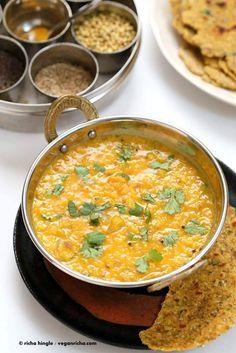 Dal Fry - Spiced Indian Lentil Soup. #vegan #glutenfree #soyfree