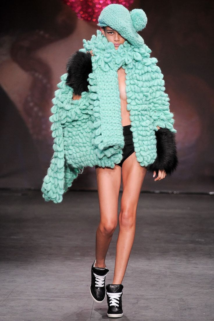 SISTER BY SIBLING F/W 13.14 LONDON.  Grotesque.  And probably a bit chilly,