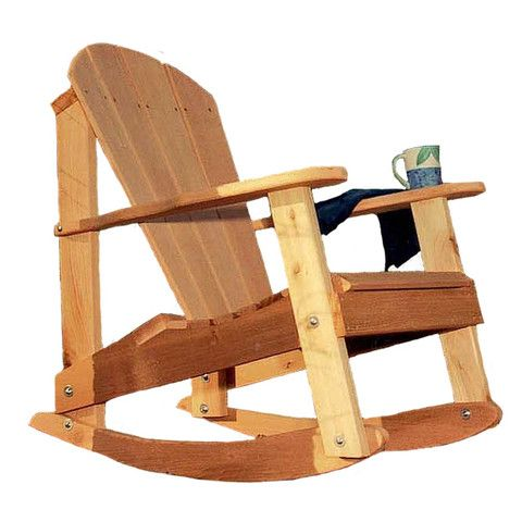 There has been a longstanding controversy on which type of patio chair is more comfortable; the Adirondack chair or the rocking chair. Solve the problem once and for all with this unique Adirondack ro